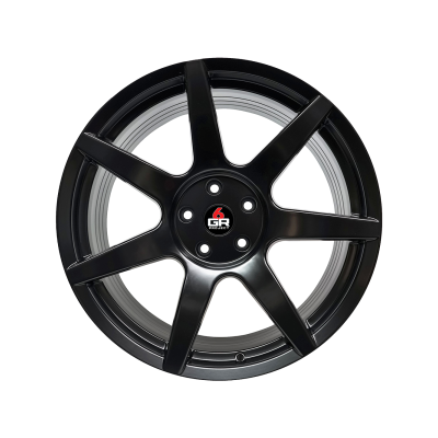 Project 6GR Wheels 7 Spoke Satin Black 20 x 10 Front & 20 x 11 Rear