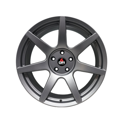 Project 6GR Wheels 7 Spoke Satin Graphite 20 x 10 Front & 20 x 11 Rear