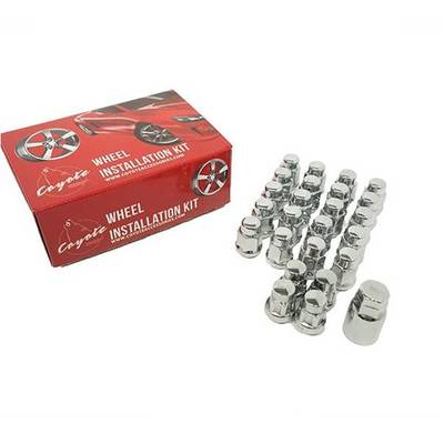 COYOTE CHROME WHEEL LUGS / LOCKS 14×1.5MM  #871648