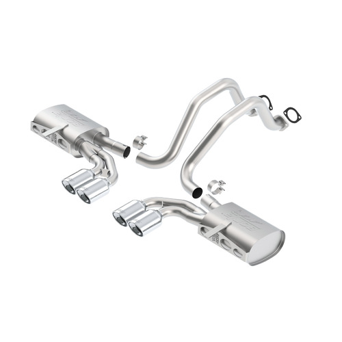 BORLA® C5 Corvette incl Z06 1997-2004 Cat-Back Exhaust ATAK part # 140428